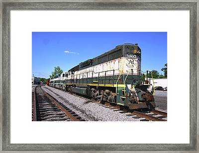 Framed Print featuring the photograph Acwr Gp38 #3803 by Joseph C Hinson Photography