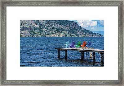 Adirondack Dock Framed Print