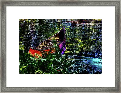 Framed Print featuring the photograph Adirondack Guide Boat by David Patterson