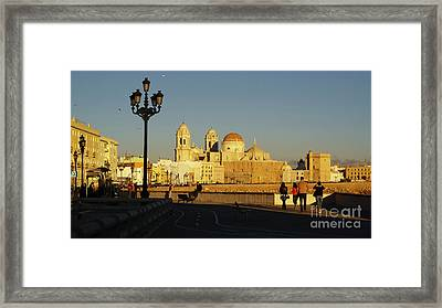 Framed Print featuring the photograph adiz Cathedral from Southern Field Spain by Pablo Avanzini