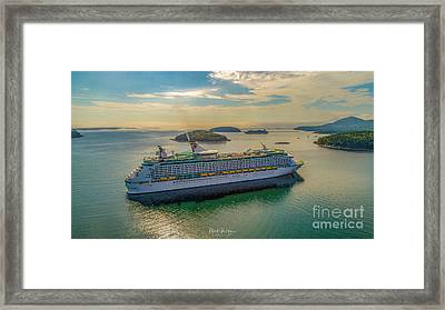 Framed Print featuring the photograph Adventure Of The Seas, Bar Harbor  by Michael Hughes