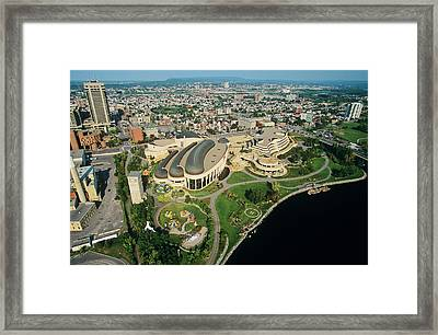 Aerial Of Canadian Museum Of Framed Print