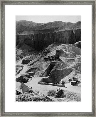 Aerial Of Valley Of The Kings Framed Print by Hulton Archive
