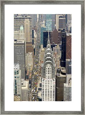 Aerial View Of The Chrysler Building In Framed Print