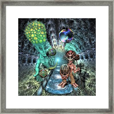 Aethereal Encounter Framed Print