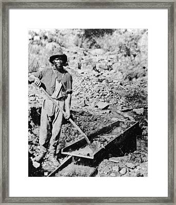 African-american Gold Miner Framed Print by Hulton Archive