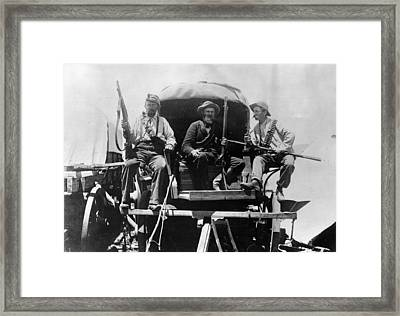 Afrikaners On Wagon Framed Print by Henry Guttmann Collection