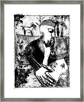 After Childish Edgeworth Black And White Print 26 Framed Print
