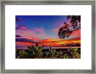 After Sunset Colors Framed Print
