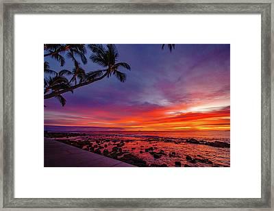 After Sunset Vibrance Framed Print