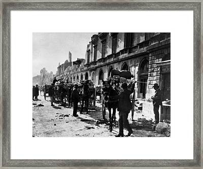 After The Earthquake Framed Print by Rischgitz