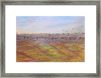 Framed Print featuring the painting After The Harvest by Norma Duch