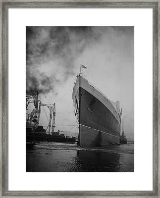 After The Launch Framed Print by Topical Press Agency