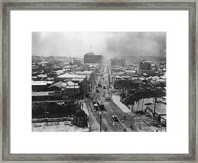 After The Quake Framed Print by Topical Press Agency