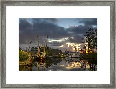 Framed Print featuring the photograph After The Storm Sunrise by Cindy Lark Hartman