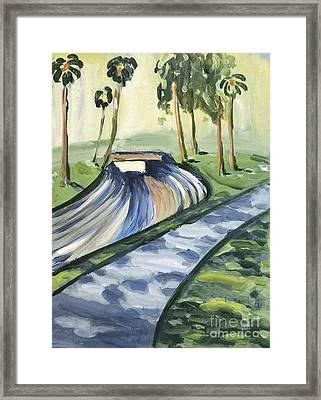 Framed Print featuring the painting Afternoon In The Park by Maria Langgle