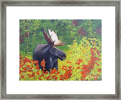 Afternoon Munch Framed Print