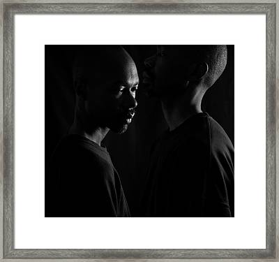 Framed Print featuring the photograph Against The Wall by Eric Christopher Jackson