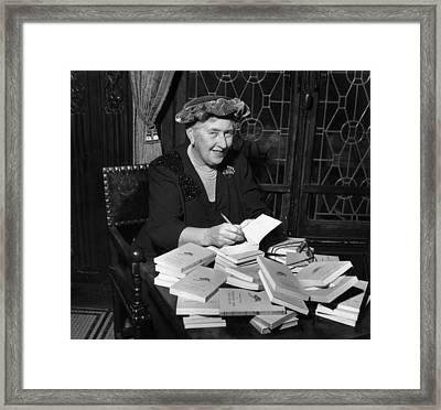 Agatha Christie Framed Print by Hulton Archive