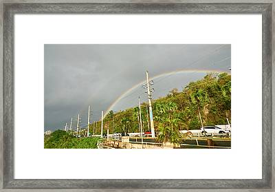Aguadilla Rainbow Framed Print