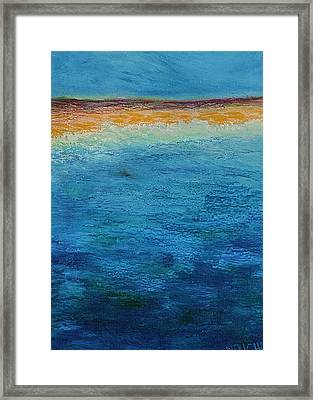 Framed Print featuring the painting Aguamarina by Norma Duch