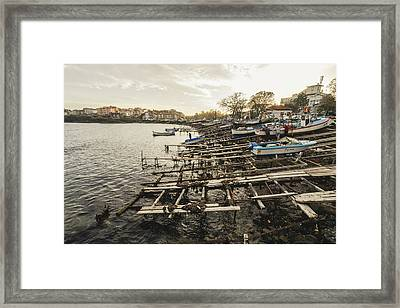 Ahtopol Fishing Town Framed Print