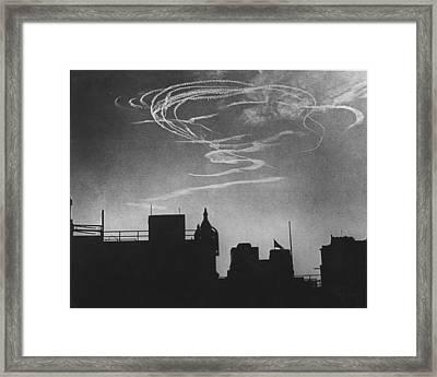 Air Raid Pattern Framed Print by David Savill