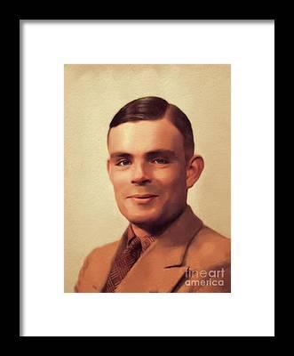 Alan Turing Framed Prints