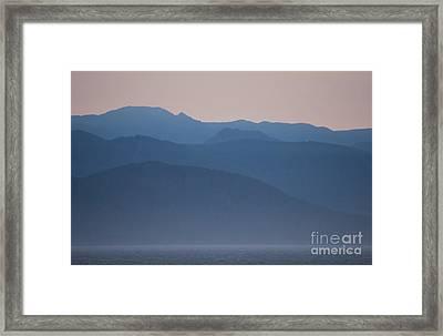 Alaska Inside Passage Mountains Framed Print
