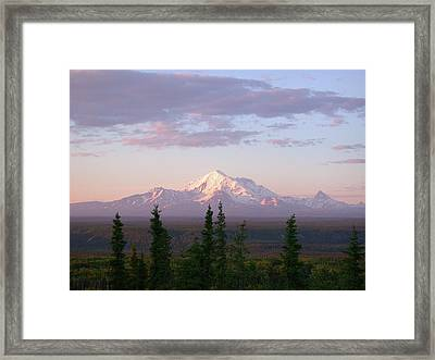 Framed Print featuring the photograph Alaska Mountain Sunset by Mark Duehmig