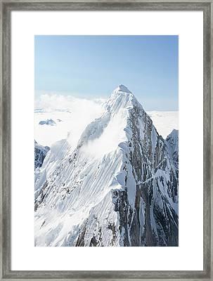 Alaskan Peak Framed Print by Earleliason