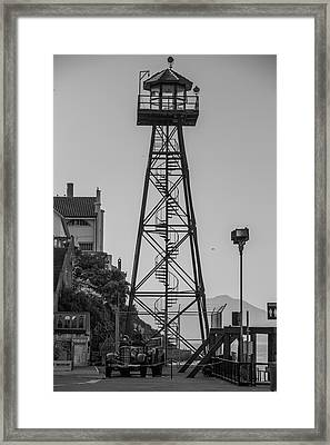 Alcatraz Light House Framed Print