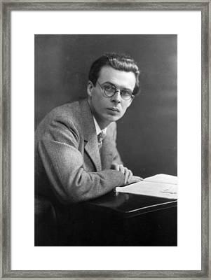 Aldous Huxley Framed Print by Edward Gooch Collection