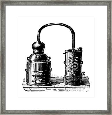 Alembic | Antique Design Illustrations Framed Print