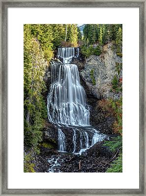 Framed Print featuring the photograph Alexander Falls Of The Callaghan Valley by Pierre Leclerc Photography