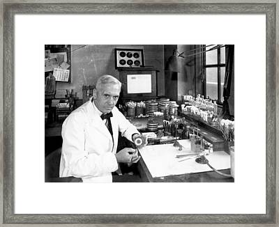 Alexander Fleming Framed Print by Davies