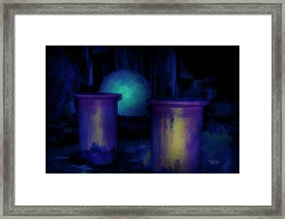Framed Print featuring the digital art Alien Portals by Bill Posner
