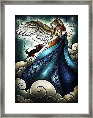 All Dogs Do Go To Heaven Framed Print