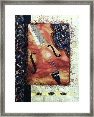 All That Jazz Bass Framed Print