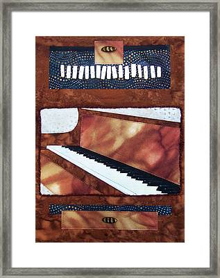 All That Jazz Piano Framed Print