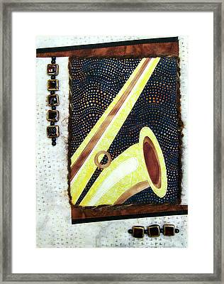 All That Jazz Saxophone Framed Print