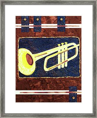 All That Jazz Trumpet Framed Print