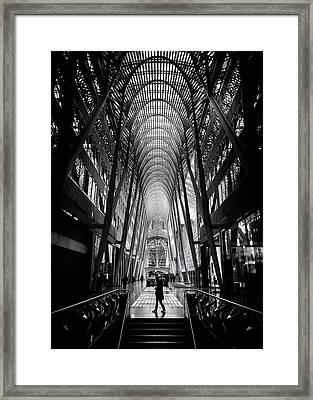 Framed Print featuring the photograph Allen Lambert Galleria Toronto Canada No 2 by Brian Carson