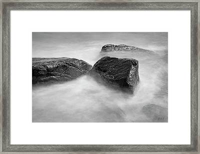Framed Print featuring the photograph Allens Pond Xxvi Bw by David Gordon