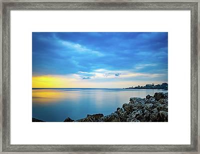 Almost Sunset Framed Print