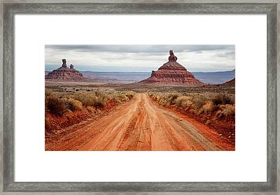 Framed Print featuring the photograph Along The Valley Floor by Nicholas Blackwell