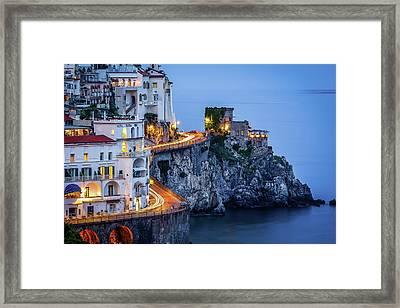 Amalfi Coast Italy Nightlife Framed Print