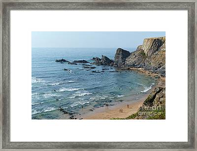 Amalia Beach From Cliffs Framed Print