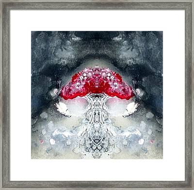 Framed Print featuring the painting Amanita  by 'REA' Gallery