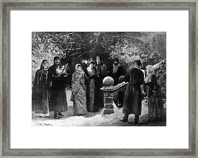 Amateur Waits Framed Print by Hulton Archive